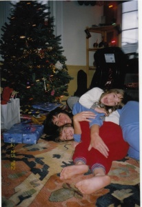 2002: Christmas with 6-year-old daughters. Does it get any better?